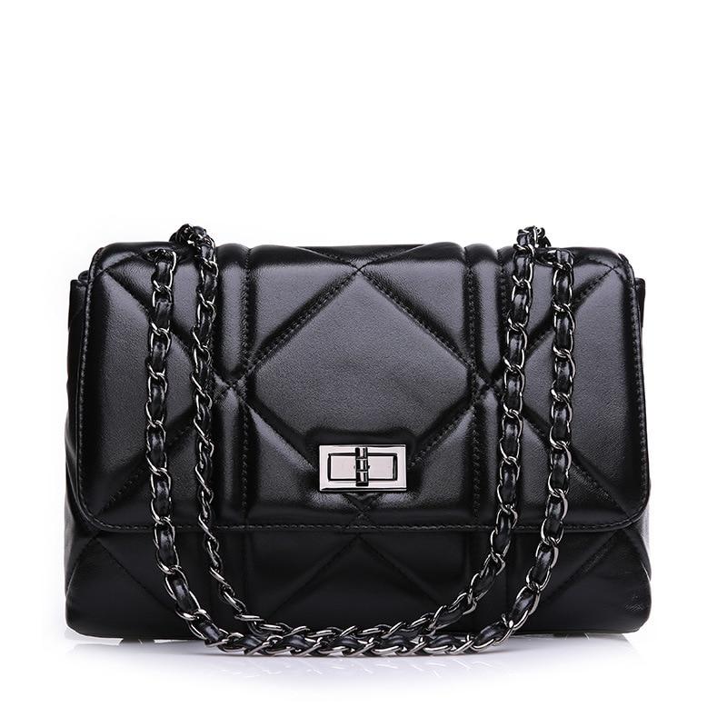 Brand Fashion Women Chain Shoulder Bags Genuine Leather 28cm Women Handbag Hot Sale Designer Quality Women Bags