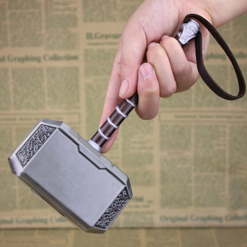 Hot Sci-Fi Movie Hero Thor Hammer Tor THOR Alloy Model Toy Hand-Held Large Thor Hammer 20cm Gift Box