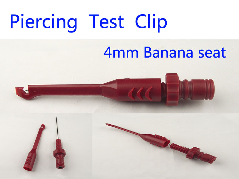 Cable Clips Piercing Test Clip with 4mm Banana seat Heavy-Duty Insulation Piercing Probe A