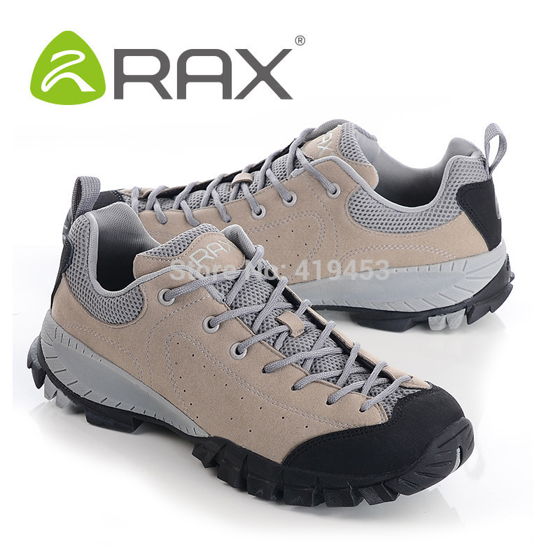 цена на 2017 RAX genuine leather lightweight hiking shoes men wear-resistant non-slip EVA outdoor hiking shoes A608