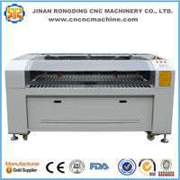 Factory direct sale CO2 double heads laser cutting machine 1390