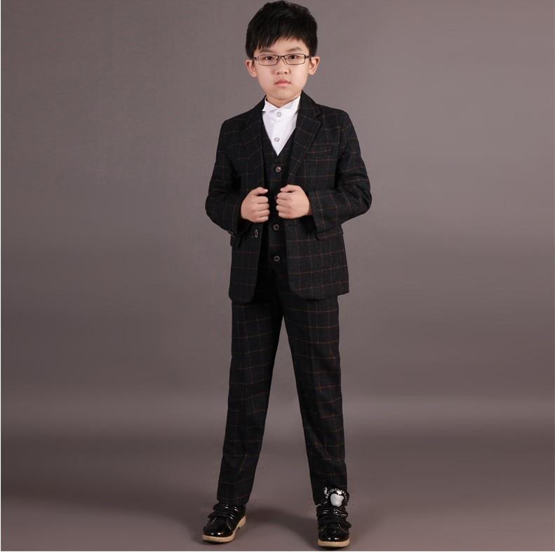 Handsome Grid Boy's Wedding Attire/Kids Formal Suit 234