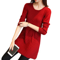 Winter Women Warm Sweater Pullovers Dresses Soft Long Sleeve Slim Bodycon Sexy Mini Knitted Bottoming Female Causal Dress S157