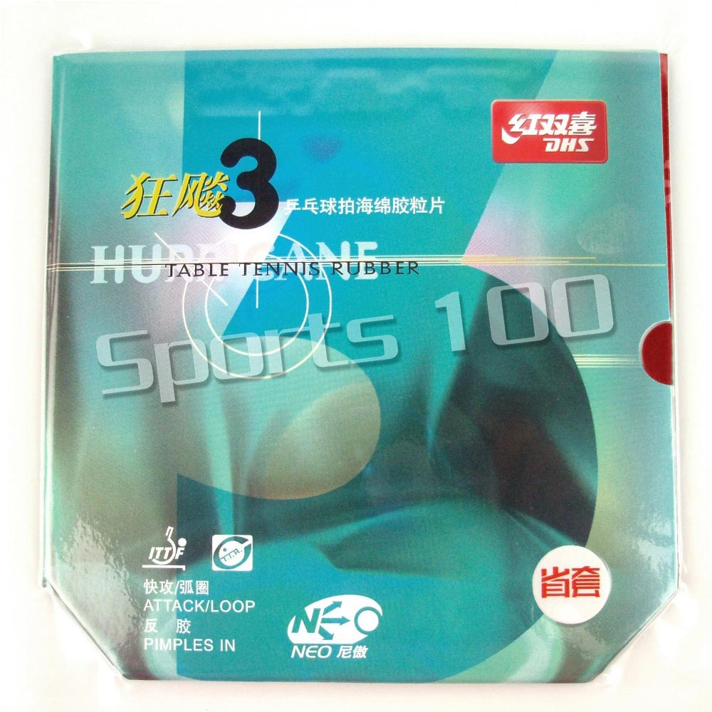 DHS NEO Hurricane3 Hurricane 3 Provincial team version Pips-in Table Tennis Rubber With Orange Sponge цена