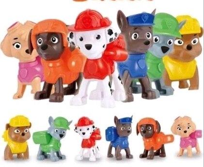 6 шт. фигурки модель для собаки собак аниме куклы patrulla canina Juguetes перебирали рисунок патрулирование щенок подарок ...