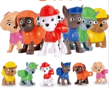 6pcs Action Figures Model For Dog Canine Anime Doll Patrulla Canina Juguetes Pawed Figure Patrolling Puppy Gift 6pcs set disney toys for kids birthday xmas gift cartoon action figures frozen anime fashion figures juguetes anime models