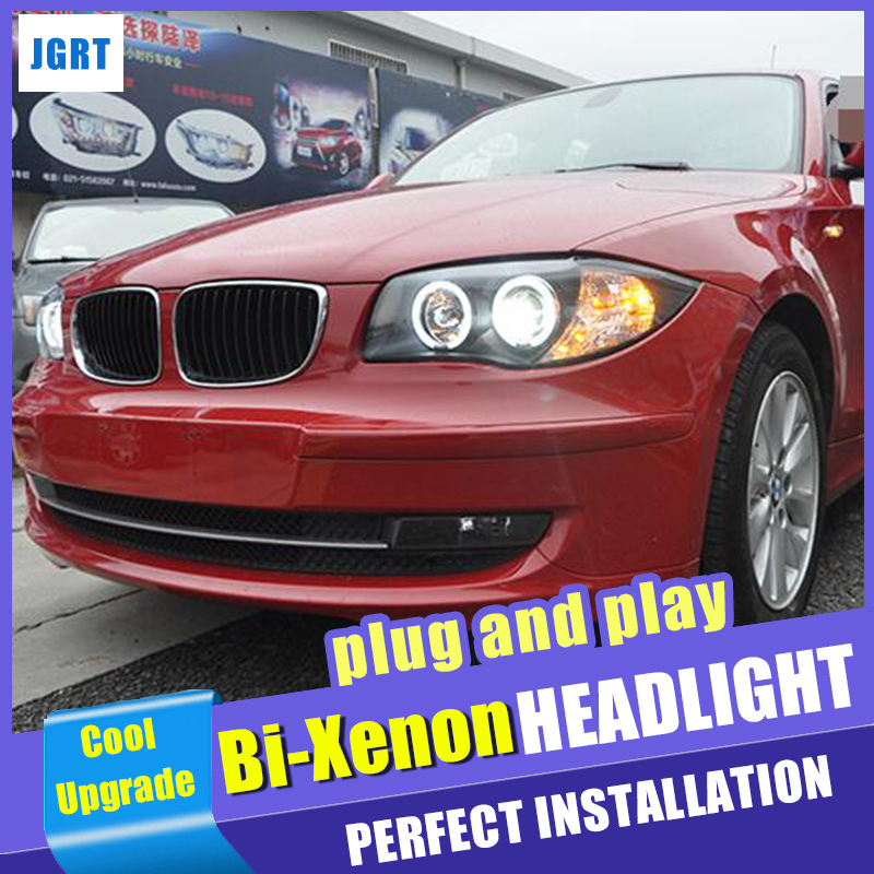 New Head lights Car styling For BMW 1 Series E87 Headlights 2004 2011 Double Beam Lens