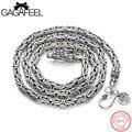 Gagafeel clássico colar genuine 925 esterlina-prata-jóias legal do punk colares correntes para dominar os homens presente para o pai do dia