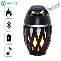 Creative Bluetooth Speaker Flame LED Night Light USB Charging Portable Outdoor Atmosphere Lamp For Dancing Party