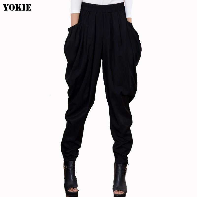 2016 New harem   pants   women crotch harem   pants  ,  wide     leg     pants  , plus size dancing   pants   ,pantskirt bloomers Harem casual trousers