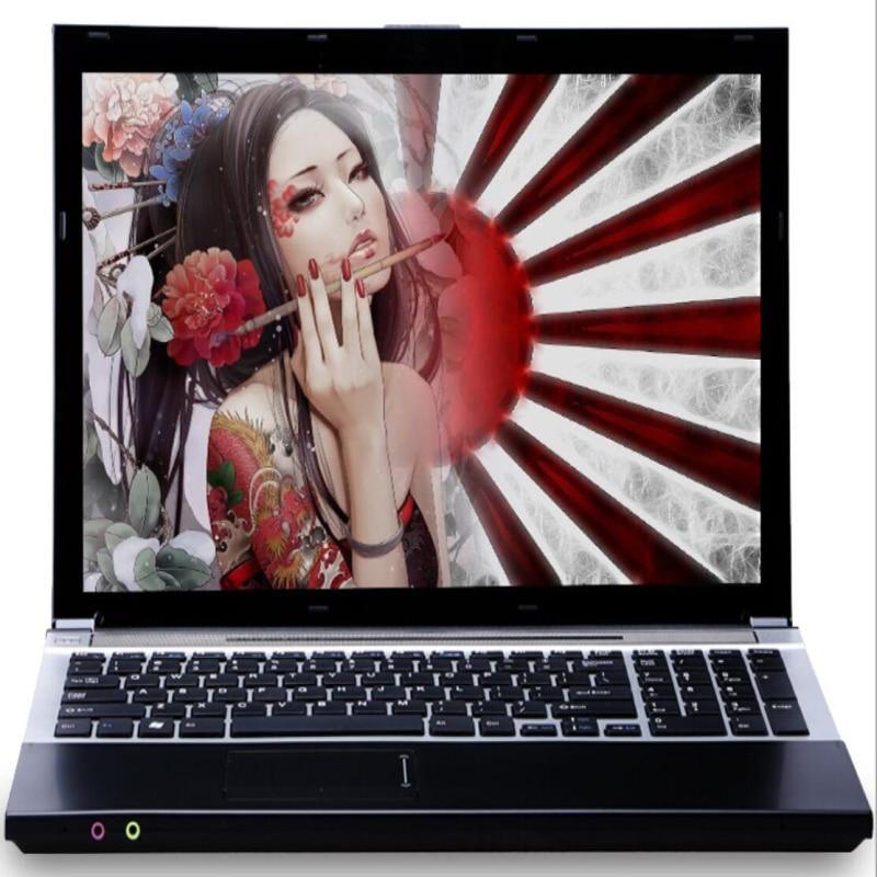 15.6 pouces LED 1920x1080P HD Intel Core i7 CPU 8GB RAM + 60GB SSD + 500GB HDD jeu ordinateur portable Windows 7/10 ordinateur portable avec DVD-RW