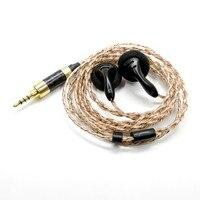 New FENGRU DIY PK1 2 5mm In Ear Flat Head Earphone Balance Earbuds Heavy Bass Sound