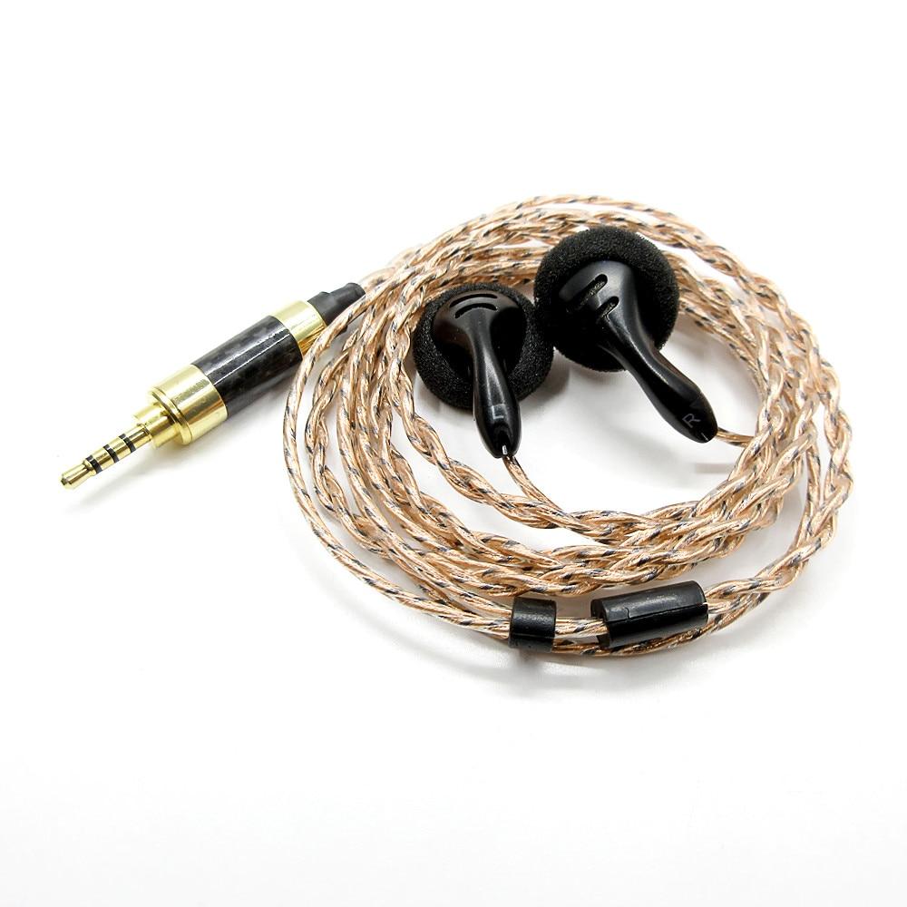 Nouveau FENGRU DIY PK1 2.5mm Dans L'oreille Plat Tête Écouteur équilibre Écouteurs Basse Lourde Son 150ohm HIFI écouteur pour Noyer V3/F1