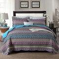 CHAUSUB хлопковое стеганое одеяло  комплект из 3 предметов  покрывало с богемным принтом  покрывало для кровати  наволочка * 2  Королевский разме...