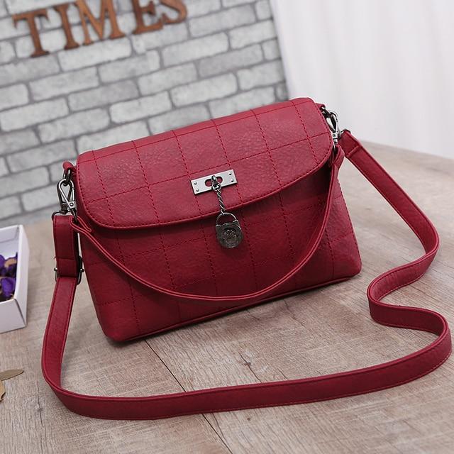 New Bag Mulheres PU Bolsas de Couro Bolsa de Ombro Do Vintage Mulheres Mensageiro Saco Crossbody Bag Bolsa Feminina Bolsas Tote Sacolas