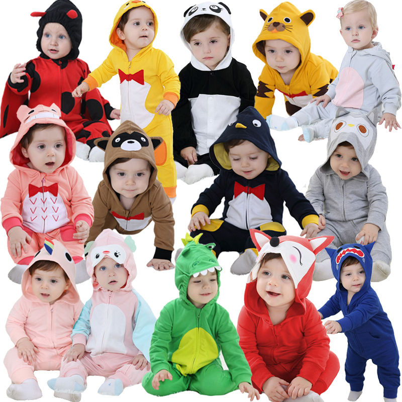 2017 New Born Baby Rompers Girls Clothes New Year Baby