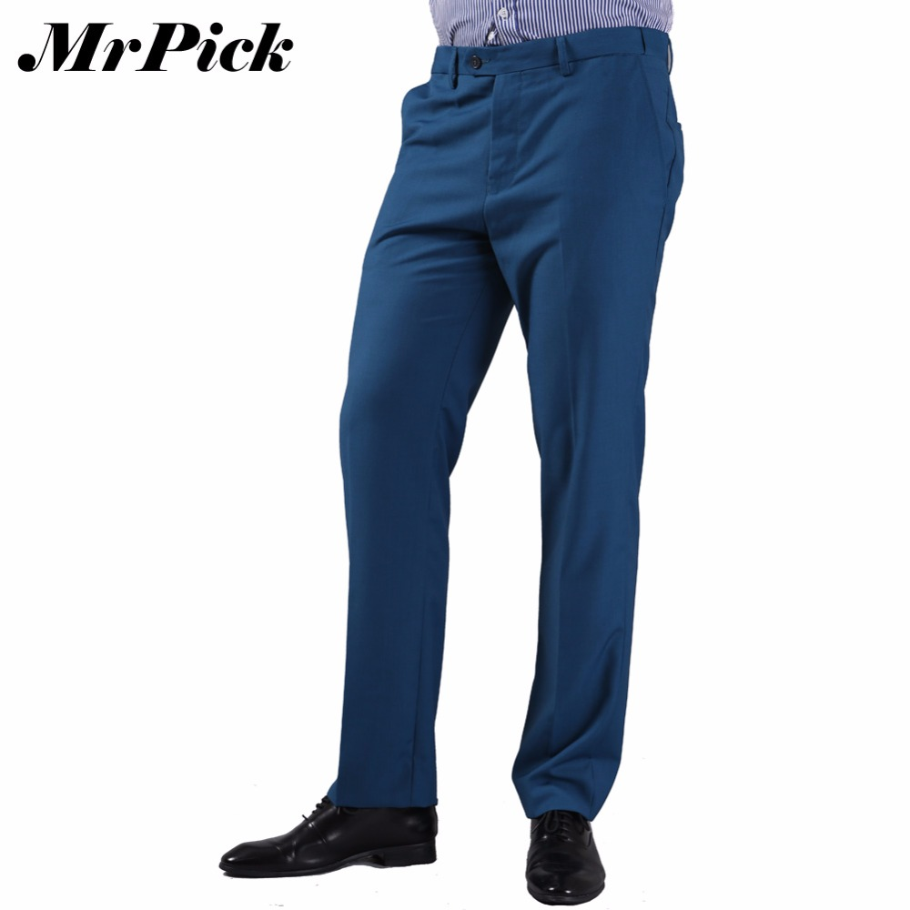 Men Business Wedding Suit Pants 2016 New Arrival Fashion Casual Tuxedo Bridegroom Formal Party Dress Trousers