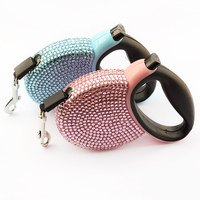 Armi Store Small Diamond Automatic Dog Leashes Retractable Traction For Dogs 43001 Pet Collar Accessories
