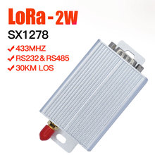 433 2W Lora عالية الطاقة VHF مثبت جهاز إرسال واستقبال 30 كجم طويلة المدى الاتصالات جهاز إرسال واستقبال 433mhz SX1278 ورا وحدة
