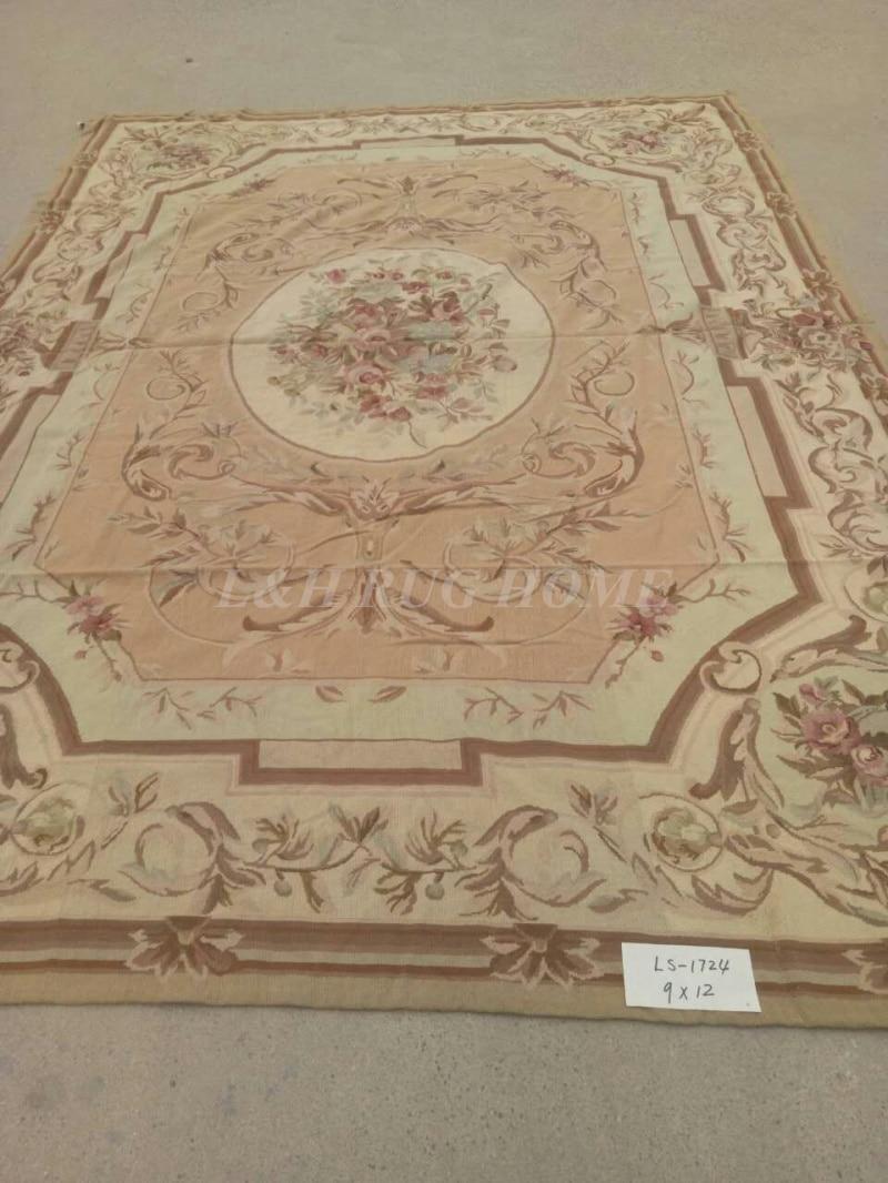 Livraison gratuite 9'x12 'tapis en laine à l'aiguille fait main de haute qualité tapis noué à la main pour la décoration de la maison