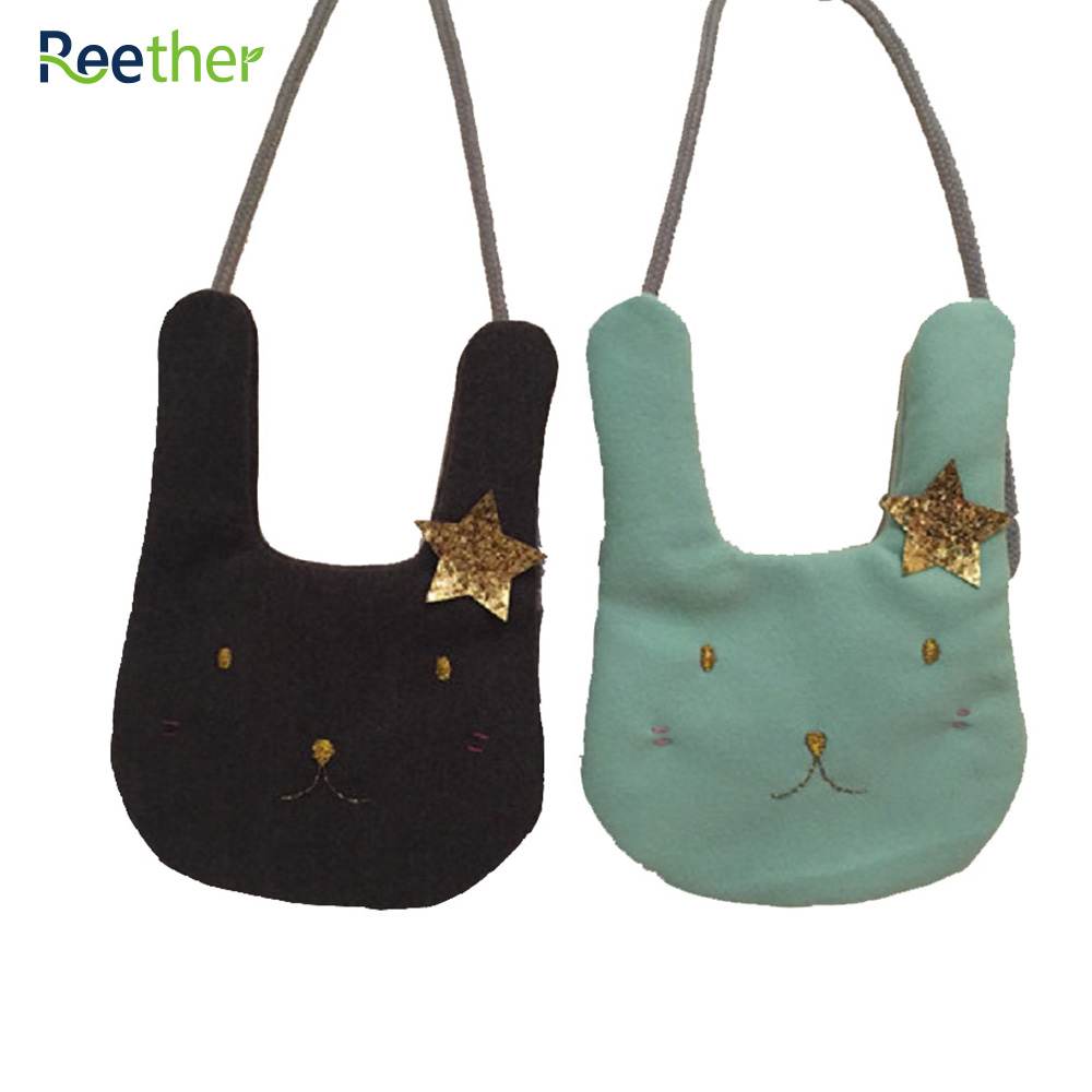Reether Girls Cute Rabbit Bags Lovely Kids Small Coin Purse Childrens Shoulder Bag Cash Wallet Decoration Gifts