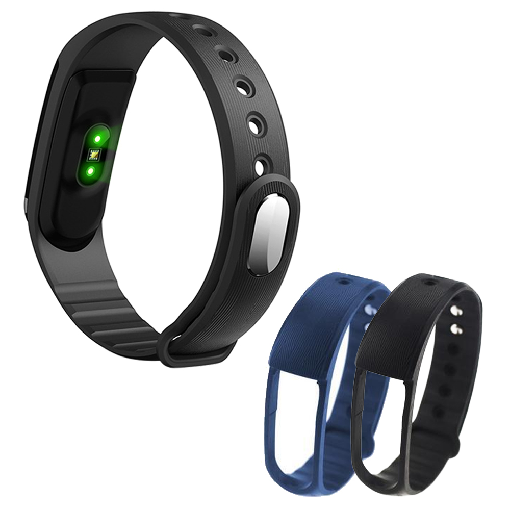 2Pcs Fashion Portable TPU Replacement Smart Bracelet Wristband Adjustable Watch