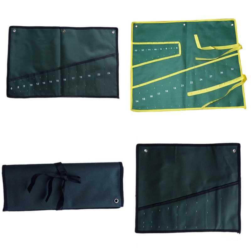 8/10/14/20 Bolsos Lona Spanner chave Ferramenta Roll Up Sacos De Armazenamento Organizador Maleta De Ferramentas Bolsa