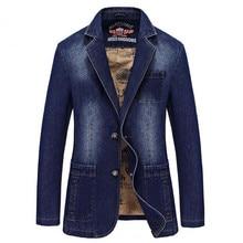 NEW Blazer Leisure cowboy Coats Mens Loose Suit Autumn Denim Jackets Fashion Chaqueta Coat Jacket Tops Outer Male Blazers