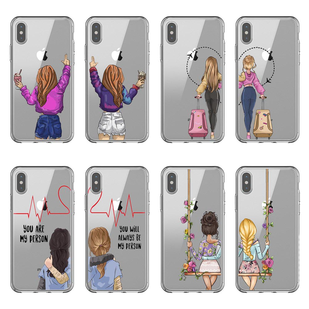 We will always be best friends <font><b>BFF</b></font> soft silicone TPU Phone <font><b>Cases</b></font> Cover For <font><b>iPhone</b></font> 11 Pro MAX 2019 5S 6SPlus 7 8Plus XS XR XS MAX image
