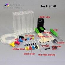 XIMO DIY СНПЧ для hp 650 переработанного чернильного картриджа для hp с чернилами hp Deskjet 1015 1515 2515 2545 2645 3535 4510 4515 4516 4518 4645 принтер