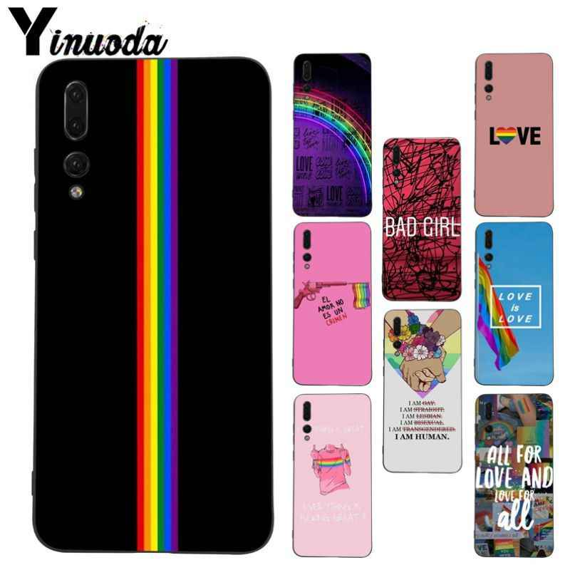 Yinuoda black tpu Phone case cover for Huawei honor 20 8x 7a P20Lite P10 Plus Mate10Lite Mate20 P20 Pro LGBT Love is love case