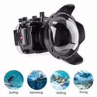 Meikon 40m/130ft Waterproof Housing Case For Sony A7 II A7R II A7S II /w Dome Port Lens,Diving case for Sony A7II A7RII A7SII