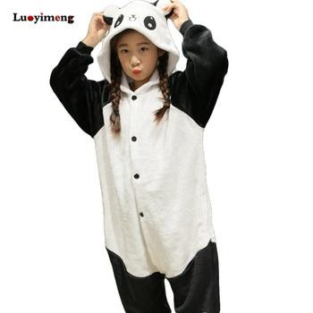 a1c010fc9 Boy Girl Pajamas Rainbow Panda Children Pajamas Unisex Flannel ...