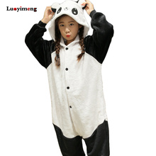 Boy Girl Pajamas Rainbow Panda Children Pajamas Unisex Flannel Stitch Kids Sleepwear Cartoon Animal Cosplay Onesie Kigurumi Baby