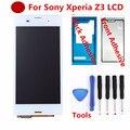 Para sony xperia z3 d6603 d6643 d6653 l55t lcd asamblea de pantalla táctil con digitalizador + adhesivo + herramientas, negro o blanco