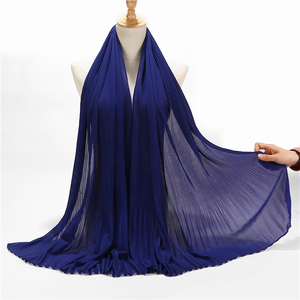 Image 5 - New Design Pleated Malaysia Hijab Tudung Bubble Chiffon Scarf Muslim Women Shawl Crumple Wrap Scarves Hijab 85*180cm