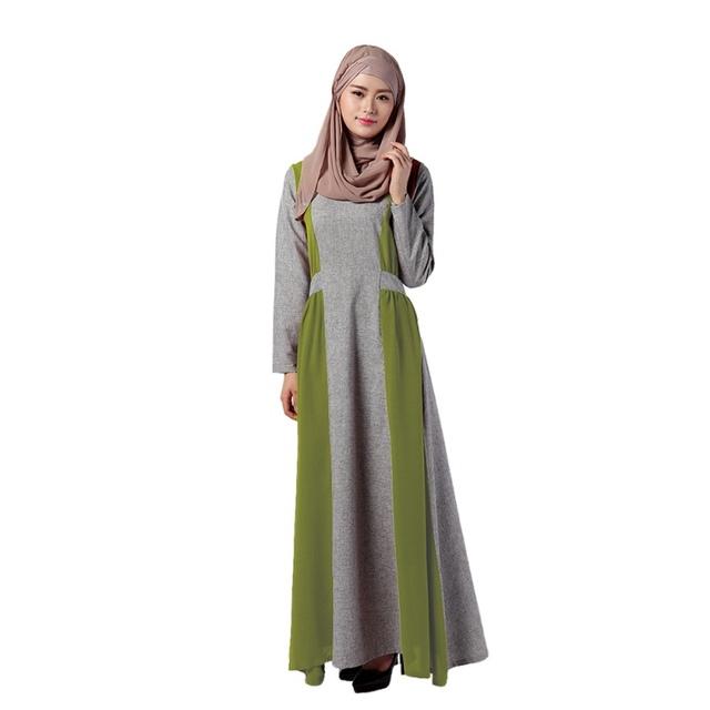 Mulheres Plus Size senhoras vestido longo muçulmano Abaya Dubai turco roupas de manga para Vestidos