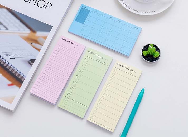 Fresh daily moth weekly check list sticky notes memo pad planner pocket notebook Scratch Pad School Office Escolar Papelaria