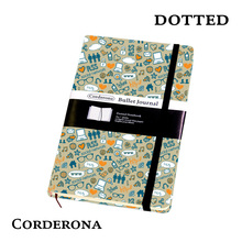 Dot Grid Hard Cover A5 PU Bullet Notebook Elastic Band Travel Dotted Journal Bujo Support Customize