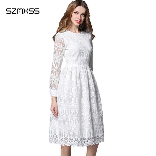 White Knee Length Summer Dresses