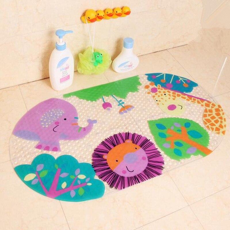 39cmx69cm Anti Slip Baby Bath Mat Many Suction Cups Colorful Design ...