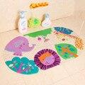 Venta caliente cáscara de la historieta taza de succión baño alfombras de Baño para bebé y niño esteras bañera esteras aseo estera animal encantador 39*69 cm