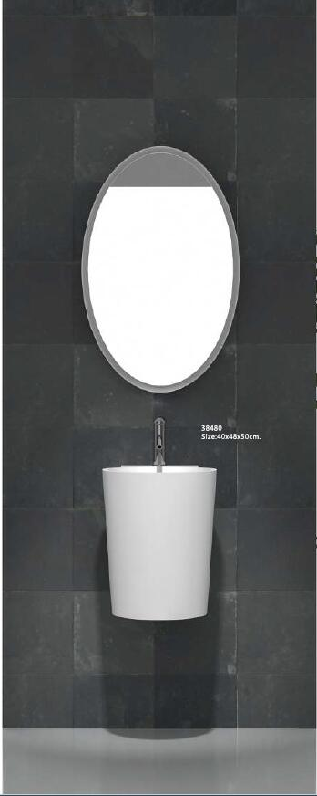 Corian Bathroom Wall Hung Wasbasin Solid Surface Hand Sink Cloakroom Vanity Wash Sink RS38480