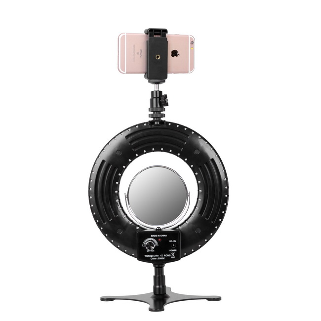 Desktop Ring Light 8 Inch Dimmable 5500K Led Lighting Kit with Stand Phone Holder Mirror for Beauty Selfie Makeup YouTube Video in Photo Studio Accessories from Consumer Electronics