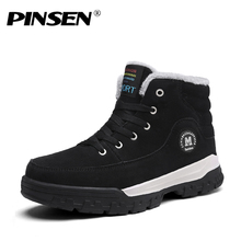 New Fashion Men Winter Shoes Snow Boots Plush Inside Antiskid Bottom Mens shoes Keep Warm Waterproof Ski Boots Size 39-45