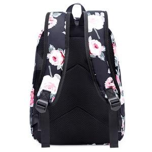 Image 5 - Resistant Lightweight Set Backpack Women Flower Printing Female Laptop Bagpack College School Bag for Teenager Girls Bookbag