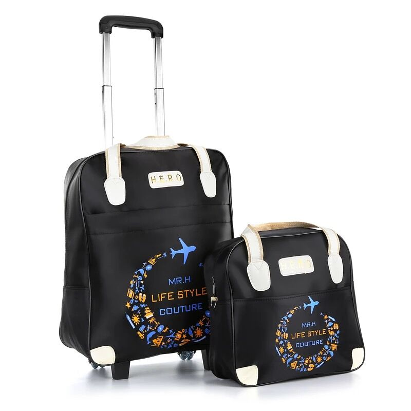 00dd8f41e6 Rolling Luggage Travel Bag On Wheels Trolley suitcase with handbag go  Shopping for Girls vs Women Boarding Trolley Luggage Sets-in Luggage Sets  from Luggage ...