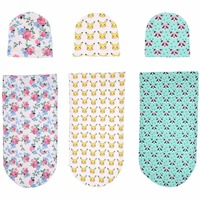 2017 New Infant Baby Girl Boy Newborn Fashion Supreme Floral Hat +Blankets Sets Clothes Photography Props Wholesale From Factory