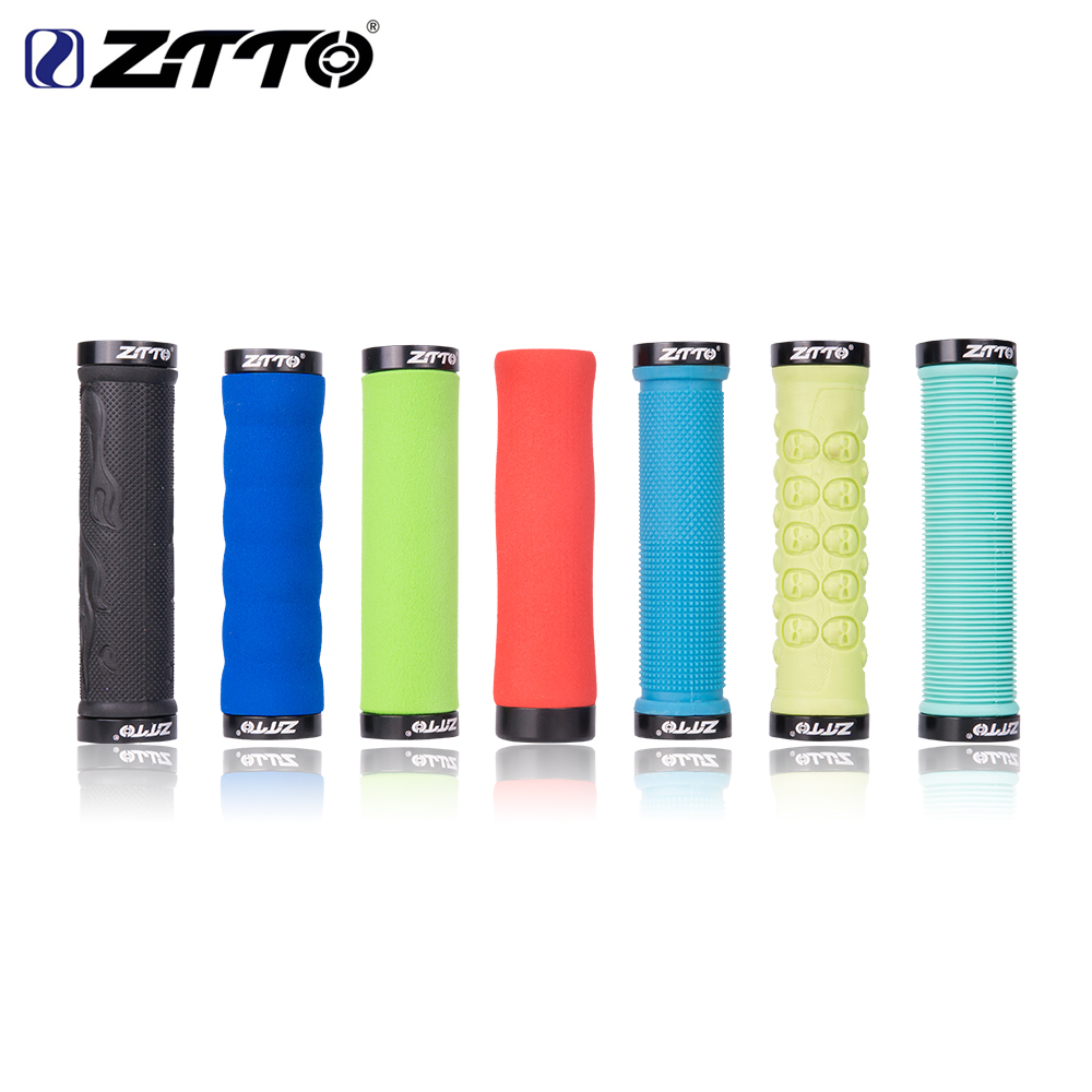 ZTTO 1Pair Comfortable Sponge Shock Proof Anti Slip LOCK Grips Ergonomics Design For Mountain Bike Bicycle With Bar in Bicycle Grips from Sports Entertainment