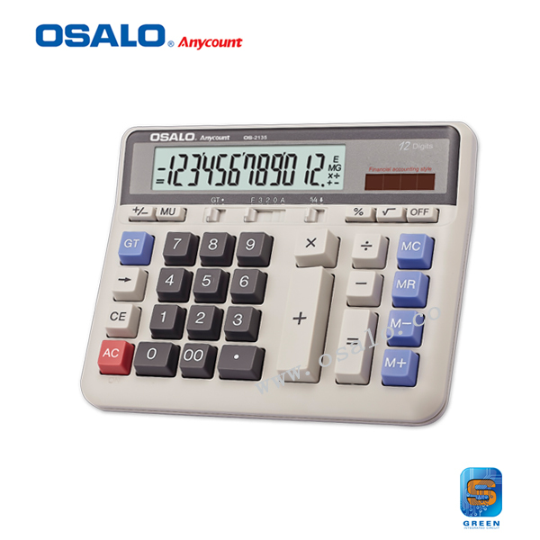 12 Digits Display Classical Solar Scientific Calculator PC key Design Supermarket Dual Power Calculadora Financeira OS 2135
